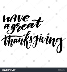 great thanksgiving lettering stock vector 755118457