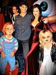 don mancini and tilly with chucky and child s