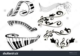 piano key notes key notes piano key board floral stock vector 107203661 shutterstock