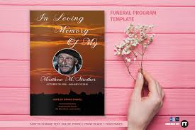 Templates For Funeral Program Funeral Program Template Sunset Brochure Templates Creative