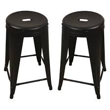 Black Backless Counter Stools Carolina Chair U0026amp Table Co Eila 24 In Backless Metal Counter
