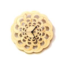 octopus contemporary stylish laser cut wooden wall clock