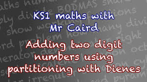 year 2 maths adding two digit numbers using partitioning with