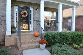front porch decor ideas decorations fall front porch decorating with dark front door