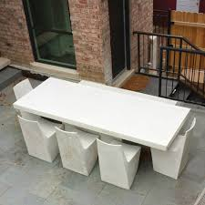 concrete table and benches price concrete furniture design casting thin very large kara mann private