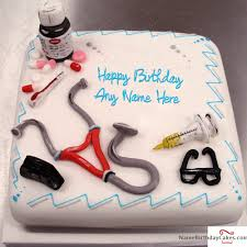 cake for doctor with name