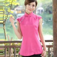 shirts and blouses modern mandarin qipao style shirt pink shirts