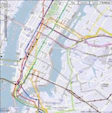 New York City Street Map by Subway Map With Streets My Blog