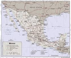 map of mexico cities mexico states map mexico mappery