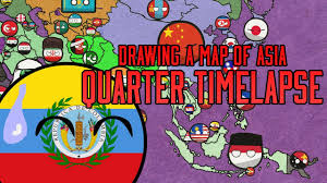 A Map Of Asia by Drawing A Countryball Map Of Asia Quarter Timelapse Edition