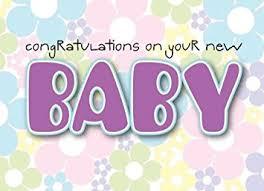 new baby newborn greeting birthday card blank inside to