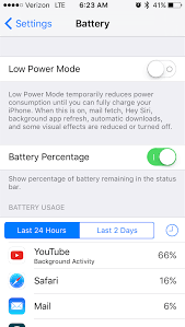 ios 9 1 youtube background activity battery drain macrumors forums