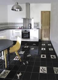 Black White Kitchen Island Interior by Kitchen Modern White And Black Interior Design In Open Floor