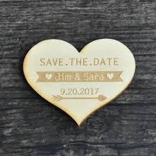 wedding save the date magnets online shop save the date heart rustic wedding announcement