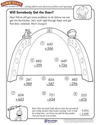 addition and subtraction worksheets 3rd grade will somebody get the door free addition and subtraction