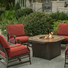 Garden Table And Chairs With Fire Pit Agio Westminster Gas Fire Pit
