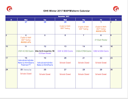 2017 ghs winter midterm pba schedule
