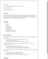 Security Guard Resume Example by Professional Immigration Services Officer Templates To Showcase