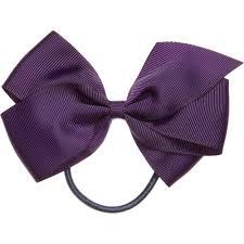 hair elastic ribbons purple grosgrain bow hair elastic 12cm