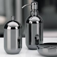 design seifenspender luxus badset schwarz chrom becher glas seifenspender wc bürste