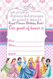 printables disney princess birthday party invitations online