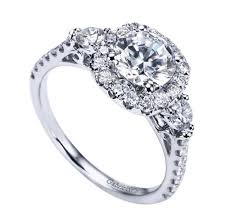filigree engagement ring 14k white gold halo filigree crown engagement ring wedding day