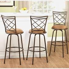 amazon com dhp luxor metal bar stool with wood seat set of 2