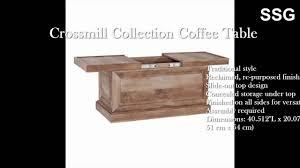 weathered coffee table slide top hidden storage box rustic oak