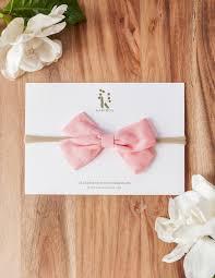 lulu headband lulu linen blend bow headband pink karibou kids