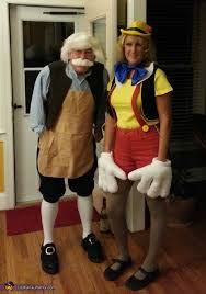 Easy Couple Halloween Costumes Geppetto And Pinocchio Diy Couple Halloween Costume