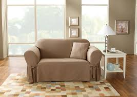 Sure Fit Slipcovers For Sofas by Sure Fit Cotton Duck T Cushion Sofa Slipcover Hayneedle
