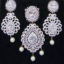 heavy diamond earrings american diamond pendant set in mumbai maharashtra american