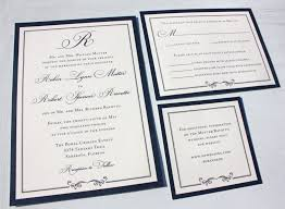 navy wedding invitations formal navy blue belly band wedding invitations with monogram