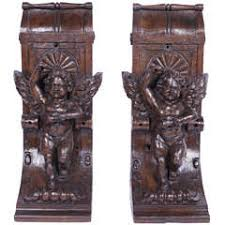 Large Wooden Corbels Pair Of Large Wood Corbels 19th Century For Sale At 1stdibs