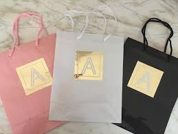 bridesmaid gift bags monogram gift bags bridesmaid gift bags party favor bags