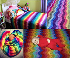 diy blanket beautifully colorful rainbow ripple blanket free pattern and guide