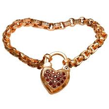 rose gold heart charm bracelet images 14k rose gold and garnet heart charm bracelet jpg