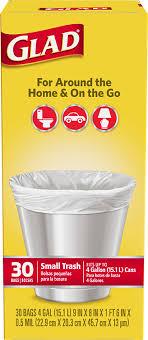 Small Garbage Bags Glad - Bathroom trash bags