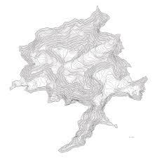 Alaska Topo Maps by Denali Art Print Contour Map Of Denali In Alaska Digital Art By