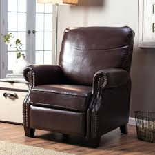 compact house furniture 144 brown leather rocker recliner chair