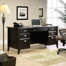 Sauder Corner Desk by Tables Sauder Shoal Creek Executive Desk Two Small Drawers Lower
