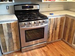 Kitchen Oven Cabinets by Kitchen Cabinets Using Old Pallets With Regard To Kitchen Cabinets