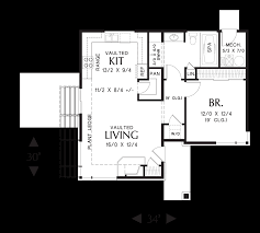 main floor plan of mascord plan 1166 the dunland single