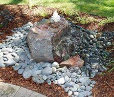 Backyard Water Fountain by Bubbling Rock Gardening Pinterest Rock Water Features And