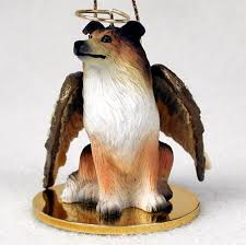 collie figurine ornament statue painted