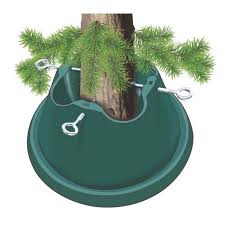 heavy duty green easy watering tree stand for live