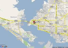 map of panama city map of comfort inn panama city panama city
