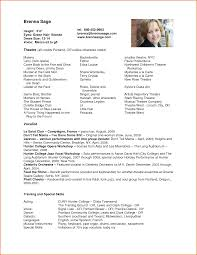 theatrical resume template 11 actor resume template resumes word