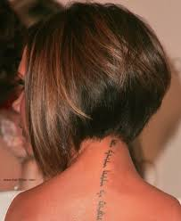 photos of the back of short angled bob haircuts victoria beckham longer in the front bob with a stacked nape