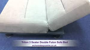Double Sofa Bed Cheap by Triton 3 Seater Double Futon Sofa Bed Youtube